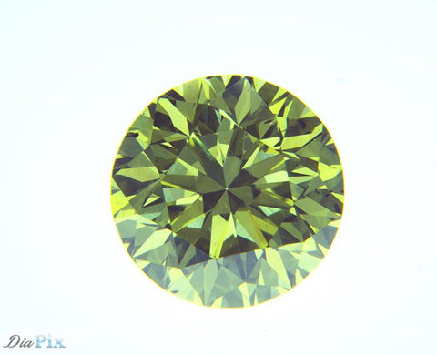 0.62 Ct. Round Brilliant VS2 Citrus Fancy Vivid Greenish-Yellow