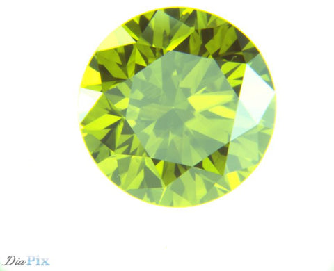 1.14 Ct. Round Brilliant SI1 Luminari Fancy Deep Yellow-Green