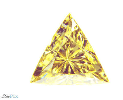 0.35 Ct. Triangle VS1 Fancy Intense Yellow (C)