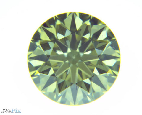 0.49 Ct. Round Brilliant SI2 Fancy Greenish Yellow