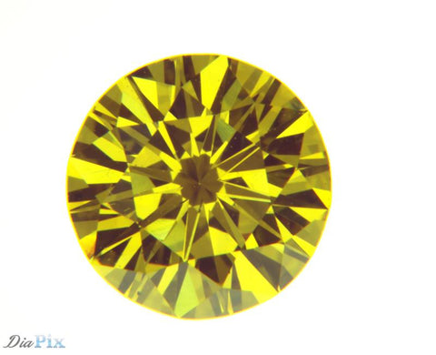 0.51 Ct. Round Brilliant VS1 Fancy Vivid Yellow