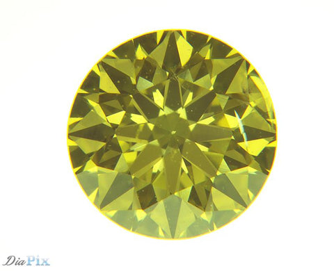 0.62 Ct. Round Brilliant SI2 Fancy Vivid Yellow