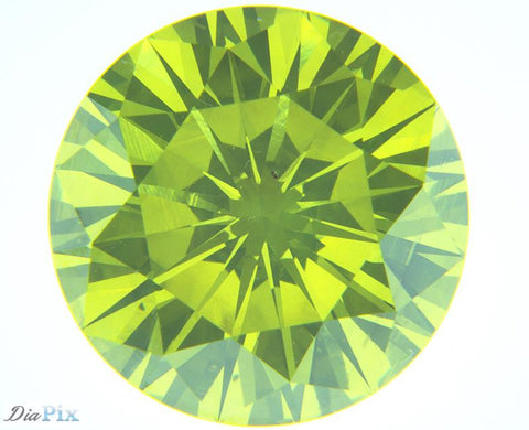 2.17 Ct. Round Brilliant VS2 Citrus Fancy Vivid Green-Yellow