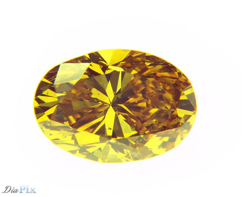 0.45 Ct. Oval I1 Fancy Vivid Yellow Orange