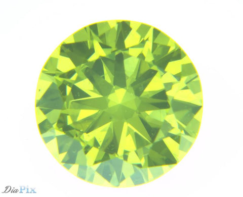 0.44 Ct. Round Brilliant VS1 Fancy Vivid Greenish Yellow