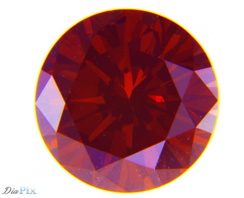 1.01 Ct. Round Brilliant SI1 Fancy Deep Orangy Pink