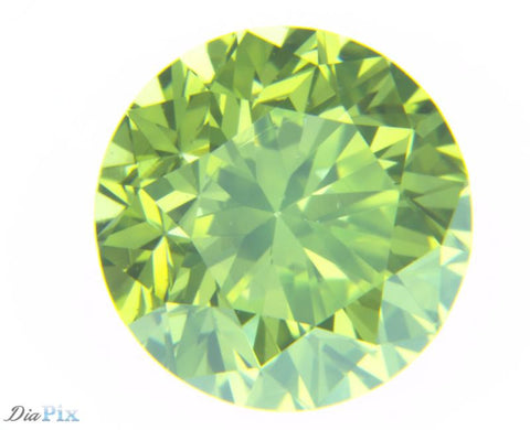 1.12 Ct. Round Brilliant VS1 Fancy Vivid Green Yellow