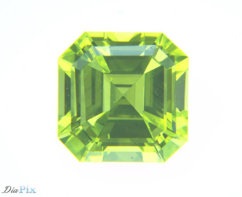 0.59 Ct. Asscher VS1 Fancy Vivid Green Yellow