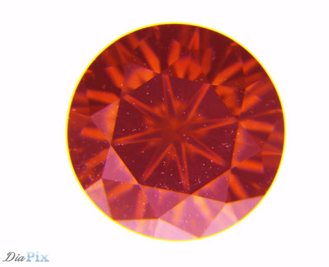 0.52 Ct. Round Brilliant VS1 Fancy Deep Orangy Pink