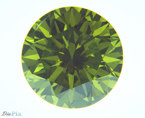 1.26 Ct. Round Brilliant SI1 Fancy Vivid Yellowish Green