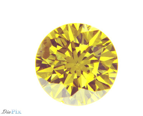 0.86 Ct. Round Brilliant I1 Fancy Intense Yellow