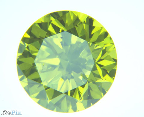1.33 Ct. Round Brilliant I1 Fancy Vivid Green Yellow