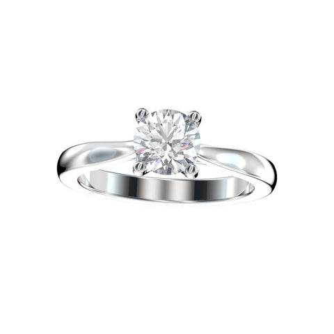 Faux Trellis Cathedral Solitaire Engagement Ring (Setting Only)