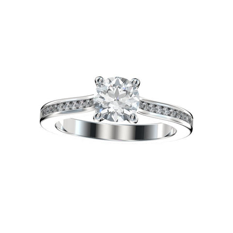 Faux Trellis Channel Set Engagement Ring 0.22 Ct. TW. (Setting Only)