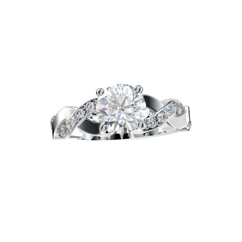 Faux Trellis Cross-Over Twist Engagement Ring 0.27 Ct. TW. (Setting Only)