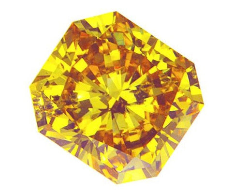 1.71 Ct. Radiant Brilliant SI2 Honey Vivid Yellow-Orange