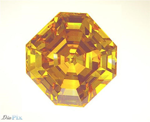 1.88 Ct. Asscher VVS1 Honey Vivid Orange-Yellow