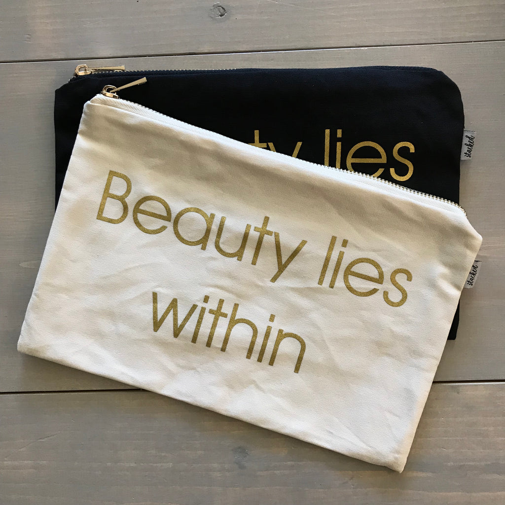Beauty lies within ™ - double meaning accessory bag.