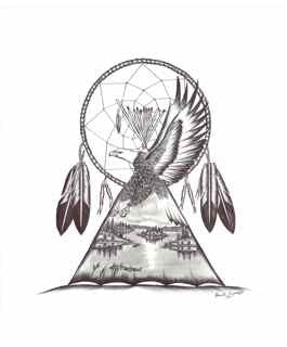 Dreamcatcher Eagle and Landscape