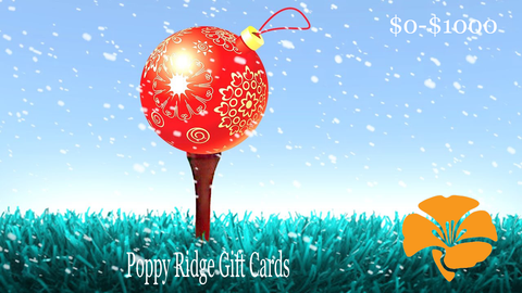 Poppy Ridge Gift Cards
