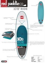 "Ride 10'8"" Inflatable SUP by Red Paddle Co"