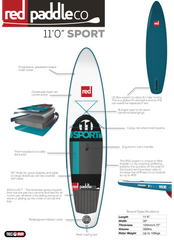 "Sport 11'0"" Inflatable SUP by Red Paddle Co"