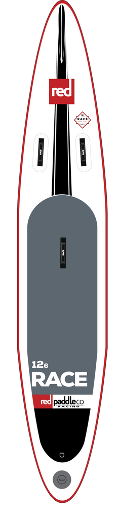 "Red Paddle Co Canada 12'6"" RACE Inflatable SUP 2017"