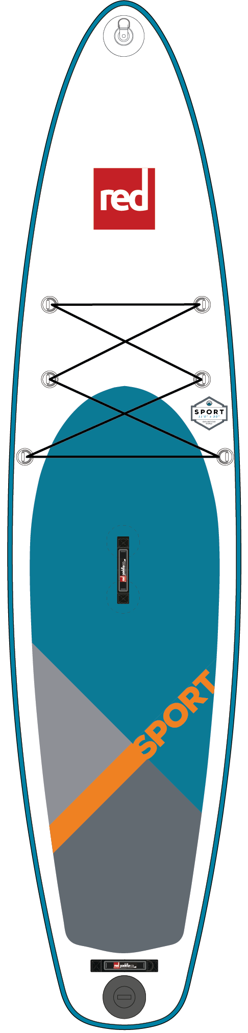 Red Paddle Co SPORT 11'0 Inflatable Paddleboard Package 2018