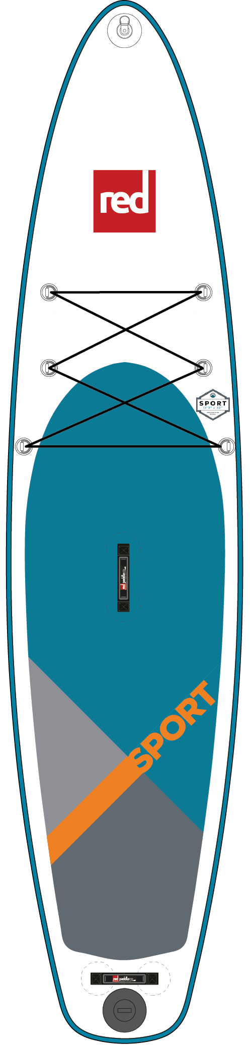 Red Paddle Co SPORT 11'3 Inflatable Paddleboard Package 2018