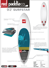"Surf Star 9'2"" Inflatable SUP by Red Paddle Co"