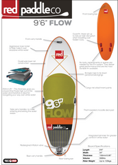"Flow 9'6"" Inflatable SUP by Red Paddle Co"