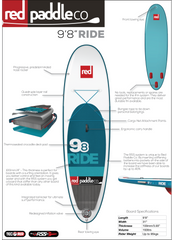 "Ride 9'8"" Inflatable SUP by Red Paddle Co"