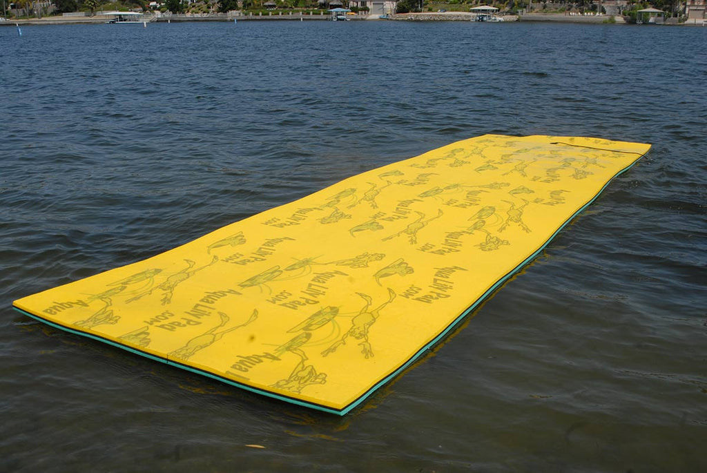 Aqua Lily Pad Floating Water Mat | 15 feet by 6 feet