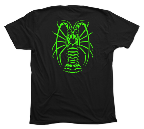 Spiny Lobster T-Shirt - Stylish Black Tribal Lobster Diving Shirt