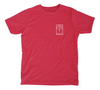 Crab Kids T-Shirt - Red Heather Crab Shirt - Front