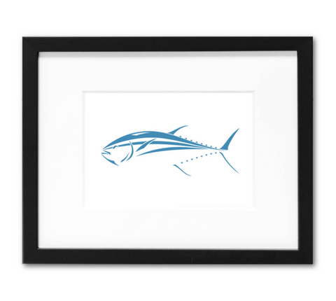 Bluefin Tuna Mini Art Print | 5x7 Inch Blue Tuna Design