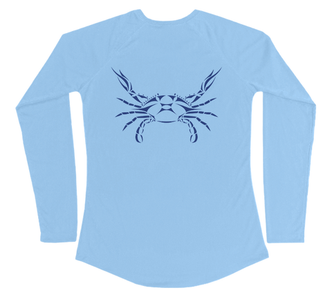 Blue Crab Performance Build-A-Shirt (Women - Back / CB)