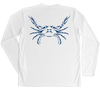 Blue Crab Performance Build-A-Shirt (Back / WH)