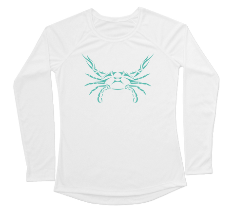 Blue Crab Performance Build-A-Shirt (Women - Front / WH)