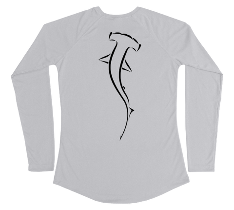 Hammerhead Shark Performance Build-A-Shirt (Women - Back / PG)
