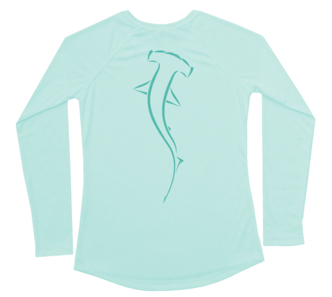 Hammerhead Shark Performance Build-A-Shirt (Women - Back / SG)