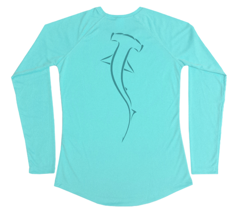 Hammerhead Shark Performance Build-A-Shirt (Women - Back / WB)
