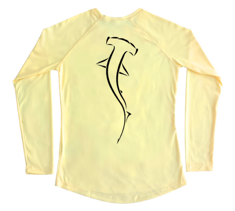 Ladies Swim Shirt - Hammerhead Shark UV Protective Sun Shirt