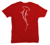 Hammerhead Shark T-Shirt - Red Short Sleeve Shirt