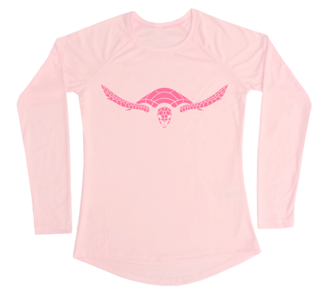 Hawksbill Sea Turtle Performance Build-A-Shirt (Women - Front / PB)