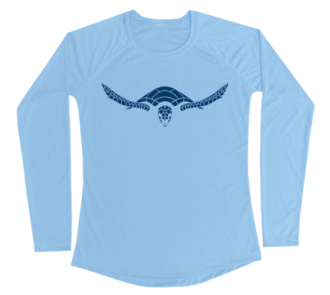 Hawksbill Sea Turtle Performance Build-A-Shirt (Women - Front / CB)