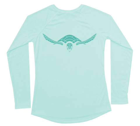 Hawksbill Sea Turtle Performance Build-A-Shirt (Women - Back / SG)