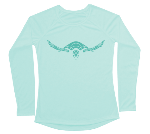 Hawksbill Sea Turtle Performance Build-A-Shirt (Women - Front / SG)