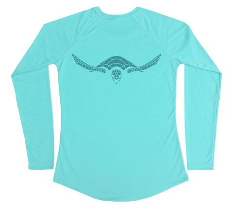 Hawksbill Sea Turtle Performance Build-A-Shirt (Women - Back / WB)