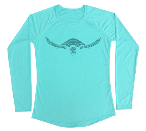 Hawksbill Sea Turtle Performance Build-A-Shirt (Women - Front / WB)